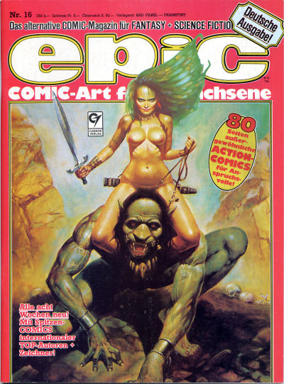 Cover for Epic (Condor, 1983 series) #16