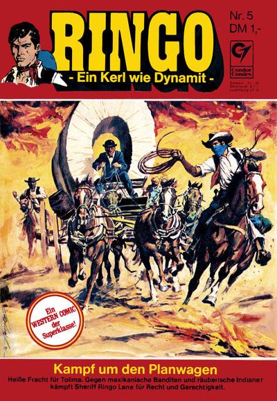 Cover for Ringo (Condor, 1972 series) #5