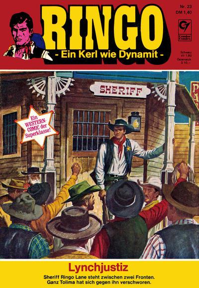 Cover for Ringo (Condor, 1972 series) #23