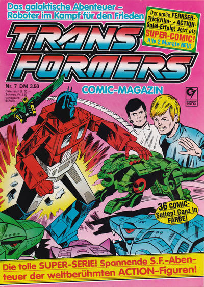 Cover for Transformers (Condor, 1989 series) #7