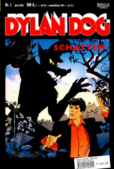 Cover for Dylan Dog (Carlsen Comics [DE], 2001 series) #1 - Schatten