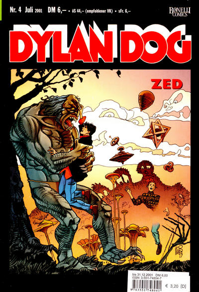 Cover for Dylan Dog (Carlsen Comics [DE], 2001 series) #4 - Zed