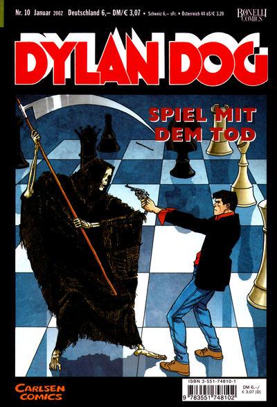Cover for Dylan Dog (Carlsen Comics [DE], 2001 series) #10 - Spiel mit dem Tod