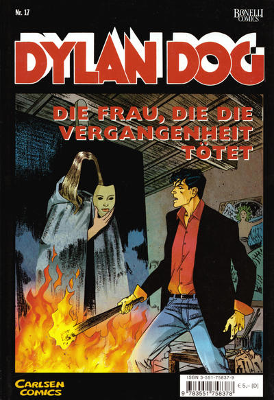 Cover for Dylan Dog (Carlsen Comics [DE], 2001 series) #17 - Die Frau, die die Vergangenheit tötet