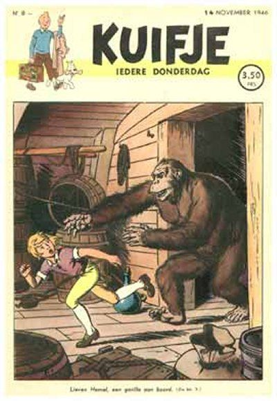 Cover for Kuifje (Le Lombard, 1946 series) #8/1946