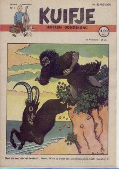 Cover for Kuifje (Le Lombard, 1946 series) #8/1947
