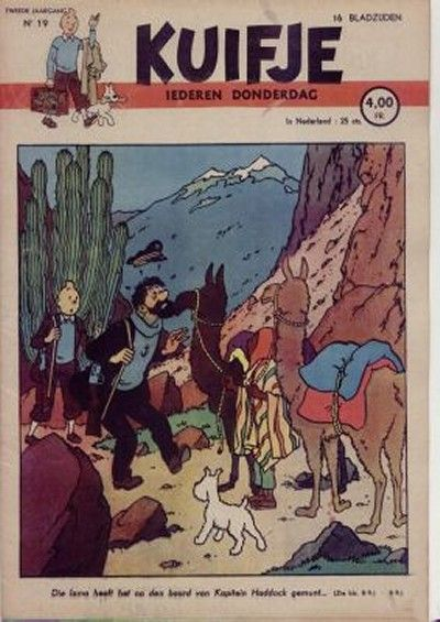 Cover for Kuifje (Le Lombard, 1946 series) #19/1947