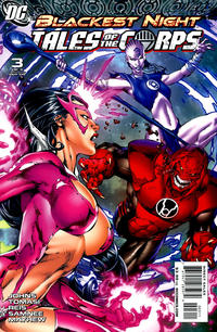 Cover Thumbnail for Blackest Night: Tales of the Corps (DC, 2009 series) #3 [Ed Benes / Rob Hunter Cover]