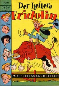 Cover Thumbnail for Der heitere Fridolin (Semrau, 1958 series) #10