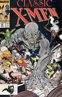 Cover Thumbnail for Classic X-Men (Marvel, 1986 series) #22 [Direct Edition]