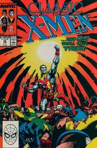 Cover Thumbnail for Classic X-Men (Marvel, 1986 series) #34 [Direct Edition]