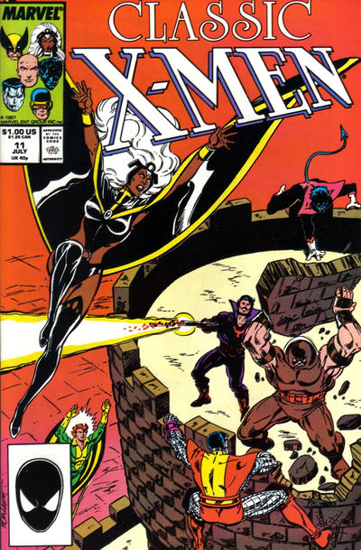 Cover for Classic X-Men (Marvel, 1986 series) #11 [Direct Edition]