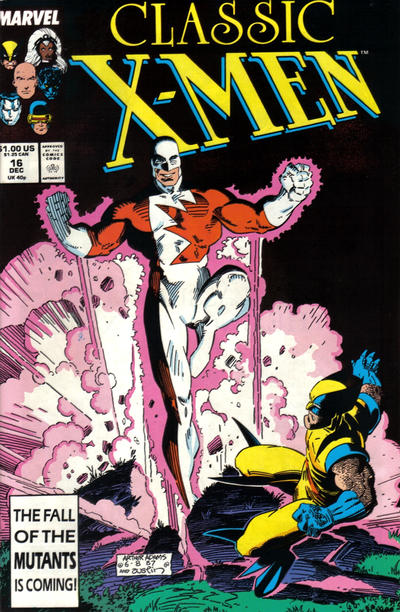 Cover for Classic X-Men (Marvel, 1986 series) #16 [Direct Edition]