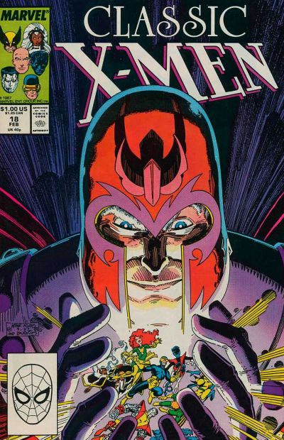 Cover for Classic X-Men (Marvel, 1986 series) #18 [Direct Edition]