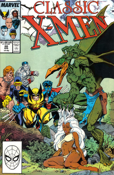 Cover for Classic X-Men (Marvel, 1986 series) #20 [Direct Edition]