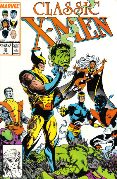Cover for Classic X-Men (Marvel, 1986 series) #30 [Newsstand Edition]