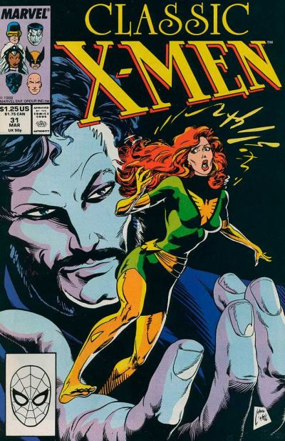 Cover for Classic X-Men (Marvel, 1986 series) #31 [Newsstand Edition]