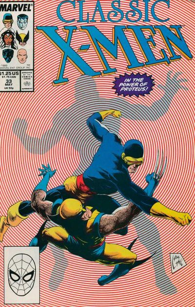 Cover for Classic X-Men (Marvel, 1986 series) #33 [Direct Edition]