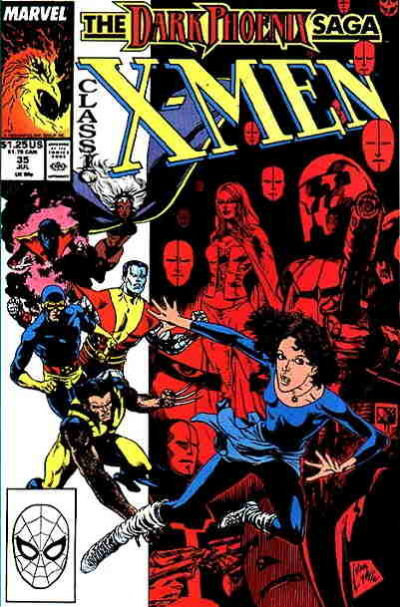 Cover for Classic X-Men (Marvel, 1986 series) #35 [Direct Edition]