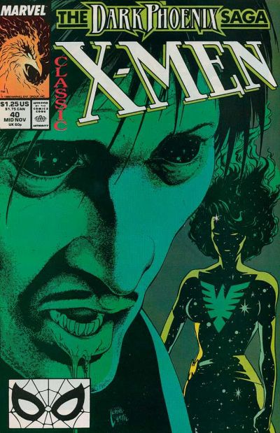 Cover for Classic X-Men (Marvel, 1986 series) #40 [Direct Edition]
