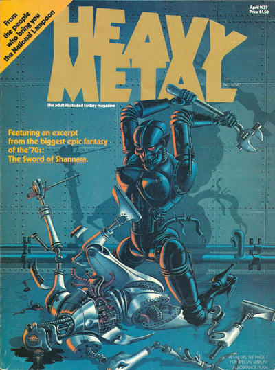 Cover for Heavy Metal Magazine (HM Communications, Inc., 1977 series) #1