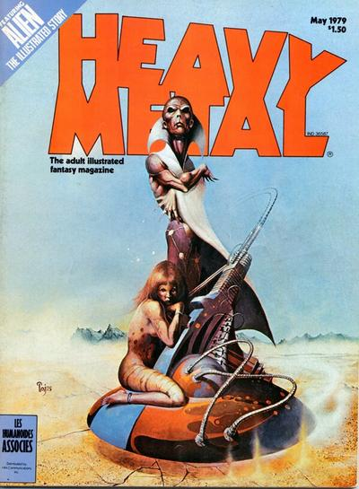 Cover for Heavy Metal Magazine (Heavy Metal, 1977 series) #v3#1 [Direct Sales]