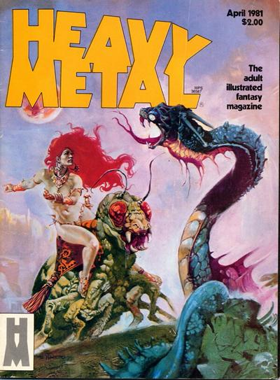 Cover for Heavy Metal Magazine (Heavy Metal, 1977 series) #v5#1 [Direct]