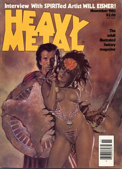 Cover for Heavy Metal Magazine (Heavy Metal, 1977 series) #v7#8