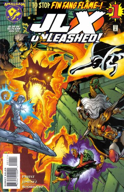 Cover for JLX Unleashed (DC / Marvel, 1997 series) #1 [Direct Edition]