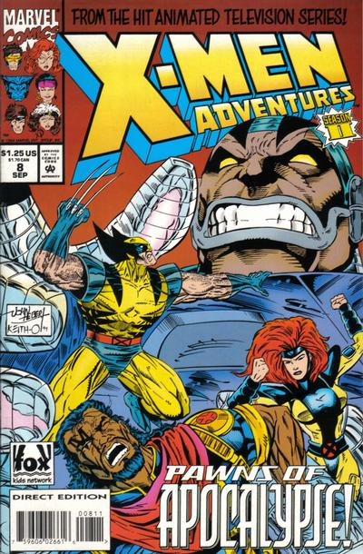 Cover for X-Men Adventures [II] (Marvel, 1994 series) #8 [Direct Edition]