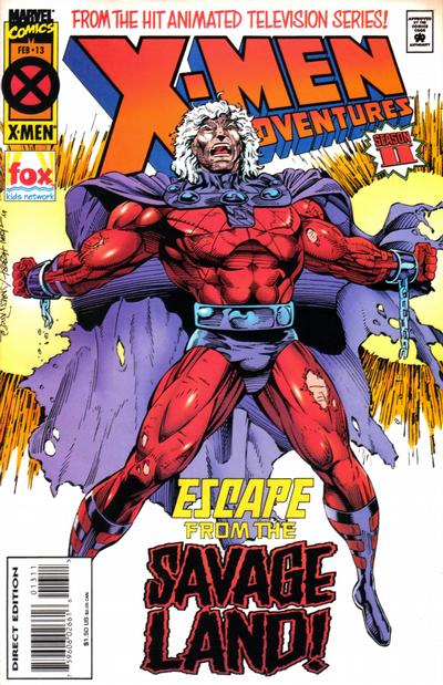 Cover for X-Men Adventures [II] (Marvel, 1994 series) #13 [Newsstand Edition]