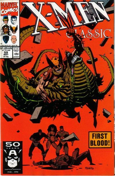 Cover for X-Men Classic (Marvel, 1990 series) #59 [Direct Edition]