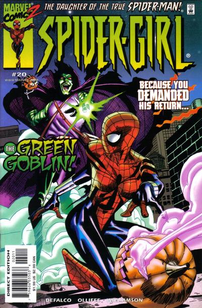 Cover for Spider-Girl (Marvel, 1998 series) #20