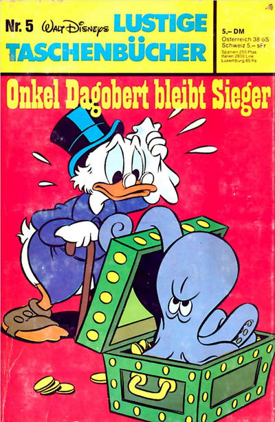 Cover for Lustiges Taschenbuch (Egmont Ehapa, 1967 series) #5 - Onkel Dagobert bleibt Sieger