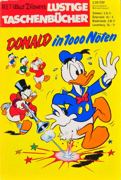 Cover for Lustiges Taschenbuch (Egmont Ehapa, 1967 series) #7 - Donald in 1000 Nöten