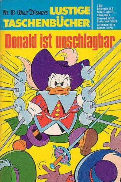 Cover for Lustiges Taschenbuch (Egmont Ehapa, 1967 series) #18 - Donald ist unschlagbar [5,60 DM]