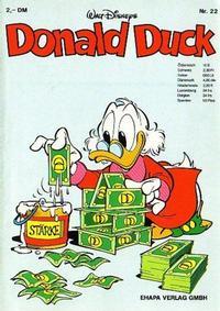 Cover Thumbnail for Donald Duck (Egmont Ehapa, 1974 series) #22