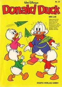 Cover for Donald Duck (Egmont Ehapa, 1974 series) #37