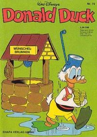 Cover Thumbnail for Donald Duck (Egmont Ehapa, 1974 series) #76
