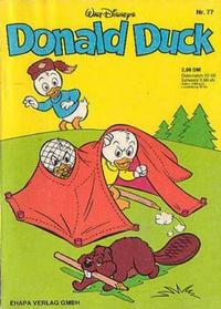 Cover Thumbnail for Donald Duck (Egmont Ehapa, 1974 series) #77