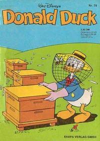 Cover Thumbnail for Donald Duck (Egmont Ehapa, 1974 series) #78