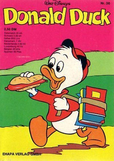 Cover for Donald Duck (Egmont Ehapa, 1974 series) #36
