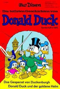 Cover Thumbnail for Die tollsten Geschichten von Donald Duck (Egmont Ehapa, 1965 series) #1
