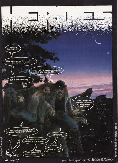 Cover for Heroes (Blackbird Comics, 1985 series) #1