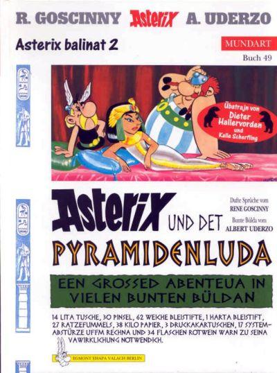 Cover for Asterix Mundart (Egmont Ehapa, 1995 series) #49 - Asterix und det Pyramidenluda [Berlinerisch 2]
