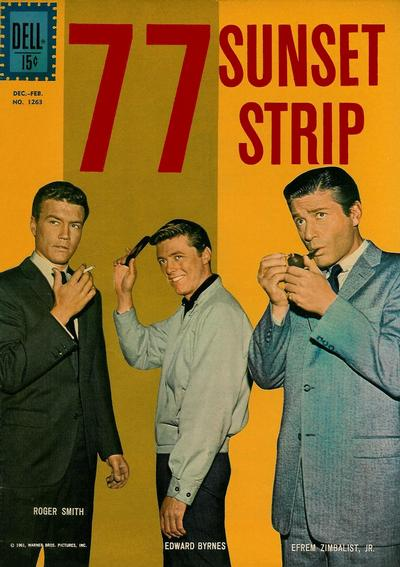 Cover for Four Color (Dell, 1942 series) #1263 [ad] - 77 Sunset Strip