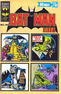 Cover Thumbnail for Batman Album (K. G. Murray, 1976 series) #40