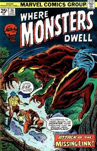 Cover Thumbnail for Where Monsters Dwell (Marvel, 1970 series) #36
