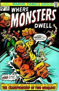 Cover Thumbnail for Where Monsters Dwell (Marvel, 1970 series) #38