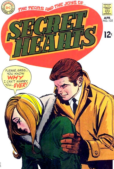 Cover for Secret Hearts (DC, 1949 series) #135